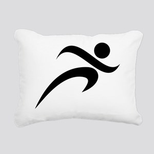 00003_Running10 Rectangular Canvas Pillow