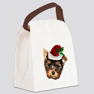 Christmas Yorkshire Terrier dog Canvas Lunch Bag