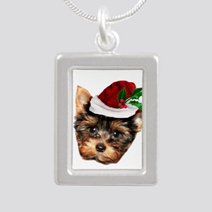 Christmas Yorkshire Terrier dog Necklaces