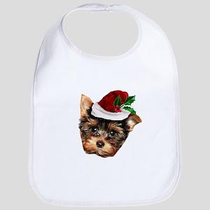 Christmas Yorkshire Terrier dog Bib