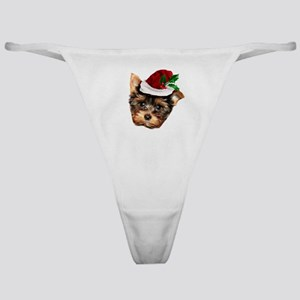 Christmas Yorkshire Terrier dog Classic Thong