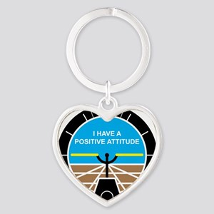 I Have a Positive Attitude Heart Keychain