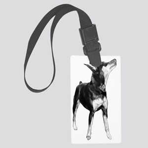 Miniature Pinscher Sketch Large Luggage Tag
