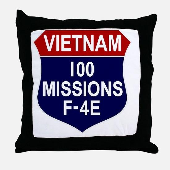 F-4E Phantom II Throw Pillow