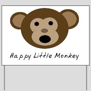 Happy Little Monkey Yard Sign