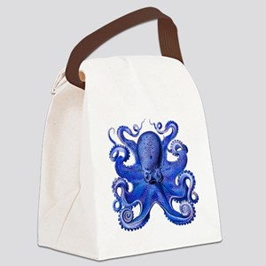 Blue Octopus Canvas Lunch Bag