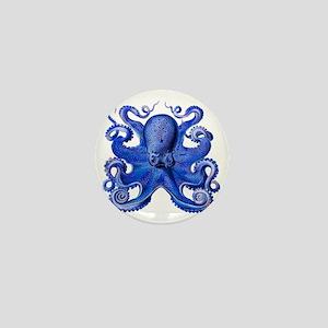 Blue Octopus Mini Button