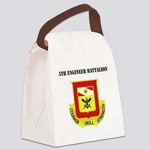 DUI - 5th Engineer Battalion with Canvas Lunch Bag