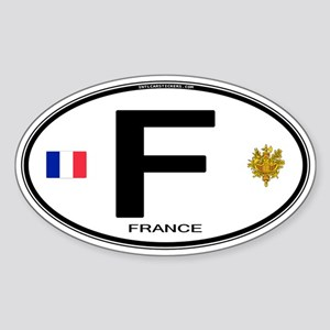 France Euro Oval Sticker (Oval)