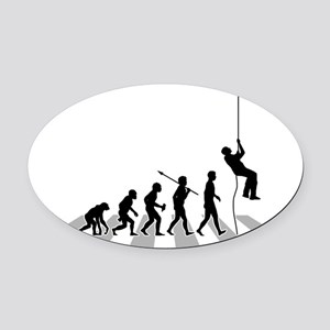 Abseiling-B Oval Car Magnet