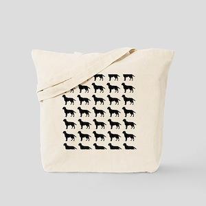 Labrador Retriever Silhouette Flip Flops  Tote Bag