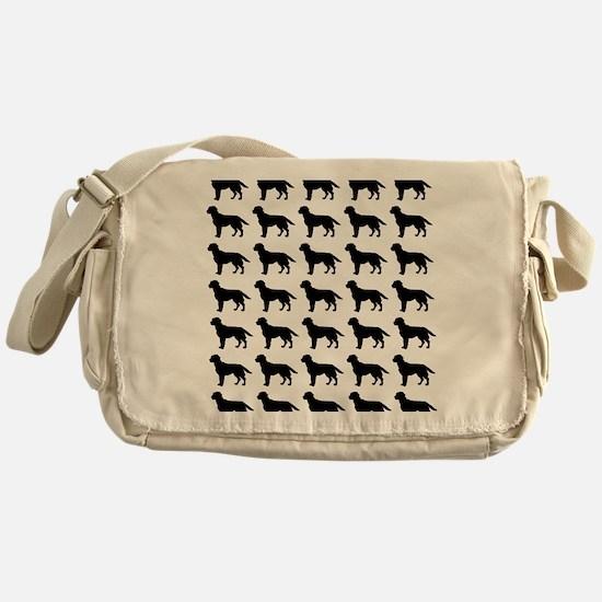 Labrador Retriever Silhouette Flip F Messenger Bag