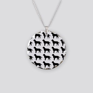 Labrador Retriever Silhouett Necklace Circle Charm