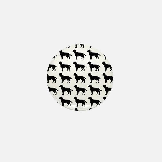 Labrador Retriever Silhouette Flip Flo Mini Button
