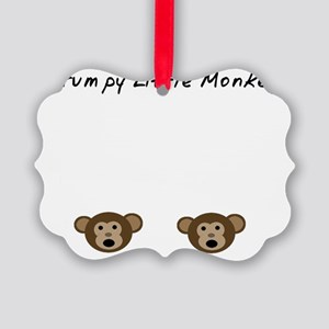 Grumpy Little Monkey Picture Ornament
