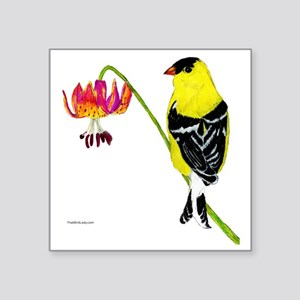 "American Goldfinch Square Sticker 3"" x 3"""