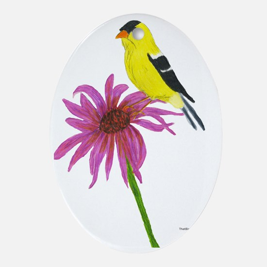 American Goldfinch Oval Ornament