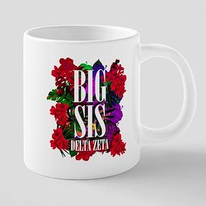 Delta Zeta Big Floral 20 oz Ceramic Mega Mug