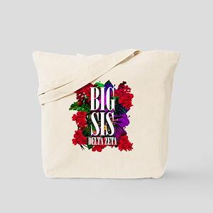 Delta Zeta Big Floral Tote Bag