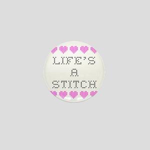 Life's a Stitch - Cross Stitch Mini Button