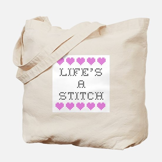 Life's a Stitch - Cross Stitch Tote Bag