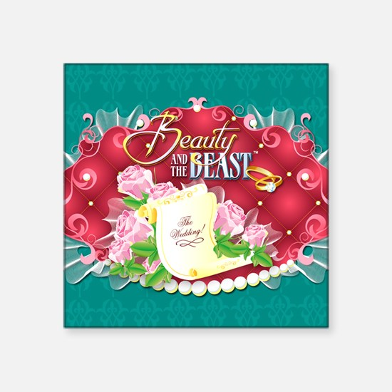 """Beauty And The Beast™ Square Sticker 3"""" x 3"""""""