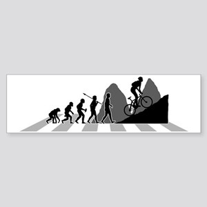 Mountain-Biking-B Sticker (Bumper)
