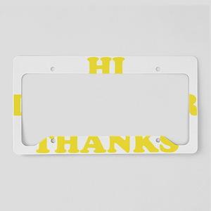 hiCare1D License Plate Holder
