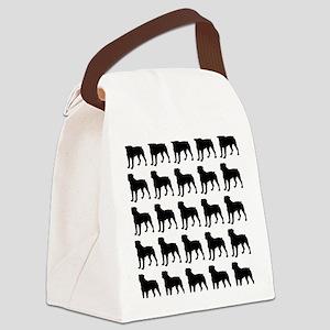 Rottweiler Silhouette Flip Flops  Canvas Lunch Bag