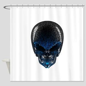 Alien Skull Shower Curtain