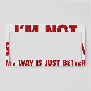 notStubborn1D License Plate Holder