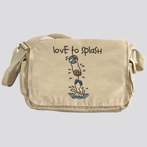 Love to Splash Stick Figure Messenger Bag