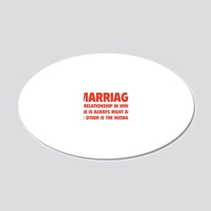 marriageHusb1D 20x12 Oval Wall Decal