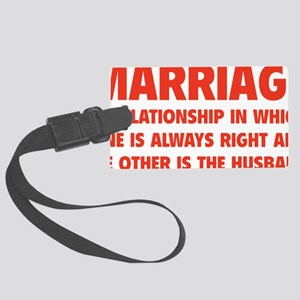 marriageHusb1D Large Luggage Tag