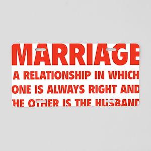 marriageHusb1D Aluminum License Plate