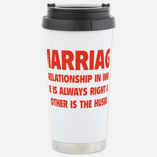marriageHusb1D Stainless Steel Travel Mug