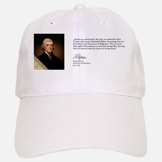 Thomas Jefferson  - Declaration of Independenc Baseball Baseball Cap