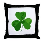 Shamrock Symbol Throw Pillow