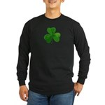 Shamrock Symbol Long Sleeve Dark T-Shirt