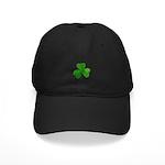 Shamrock Symbol Black Cap