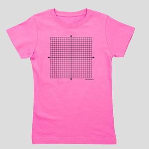 Four quadrant math graph paper Girl's Tee