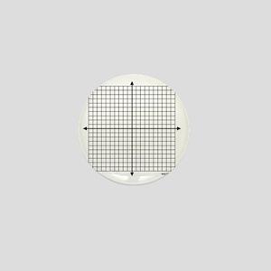 Four quadrant math graph paper Mini Button