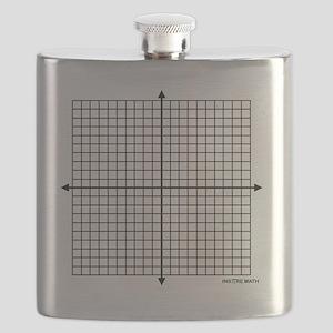 Four quadrant math graph paper Flask