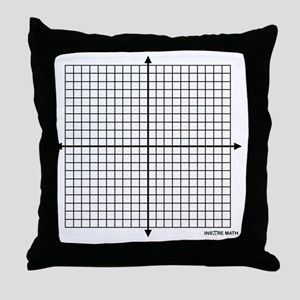 Four quadrant math graph paper Throw Pillow