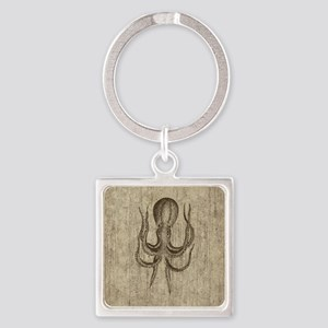Vintage Octopus Square Keychain