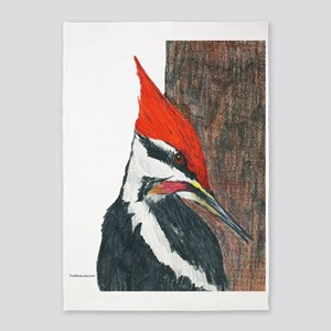 Pileated Woodpecker 5'x7'Area Rug