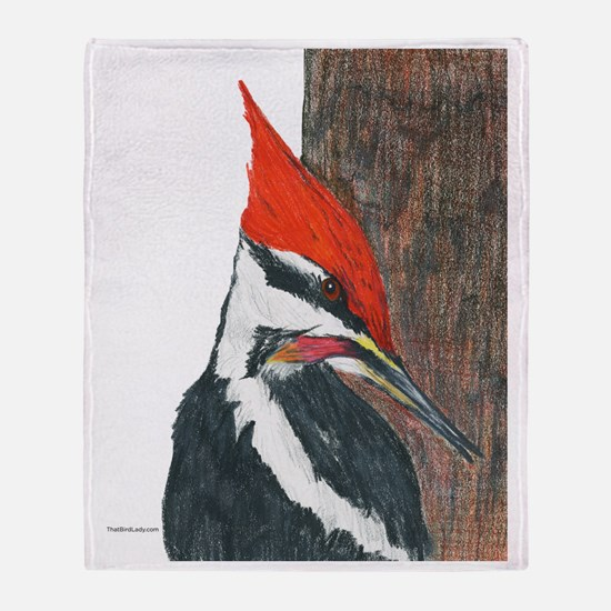 Pileated Woodpecker Throw Blanket