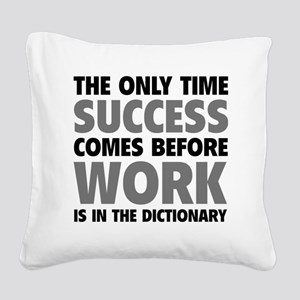 successWorkDict1F Square Canvas Pillow