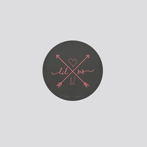 Delta Zeta Lil Sis Arrows Mini Button