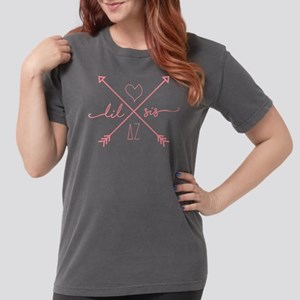Delta Zeta Lil Sis Arr Womens Comfort Colors Shirt